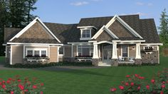 This #houseplan features a beautiful deck and two covered porches perfect for enjoying the warm weather! Check out additional details at: http://houseplans.housingzone.com/plan/9684/
