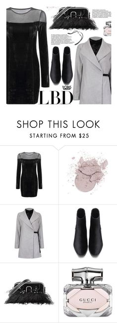"""""""Yoins Little Black Dress"""" by beebeely-look ❤ liked on Polyvore featuring Marc Jacobs, Gucci, LittleBlackDress, LBD, velvet and yoinscollection"""