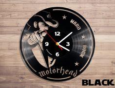 Amazon.com: Motörhead rock band vinyl record wall clock: Home & Kitchen