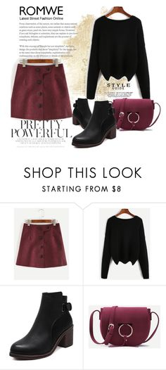 """""""ROMWE 10/X"""" by saaraa-21 ❤ liked on Polyvore featuring romwe"""