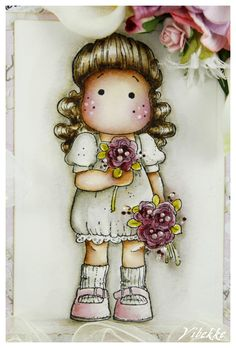Stamp: You Are So Special Collection - Tilda In The Garden  As usual colored with Distress ink refill.