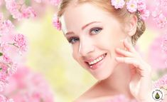 Photo about Beauty face of the young happy beautiful woman with pink flowers in her hair. Image of blond, female, background - 50554865 Beauty Salon Design, Bright Skin, Beauty Blender, Girl Face, Glowing Skin, Her Hair, Beauty Women, Pink Flowers, Beautiful Women
