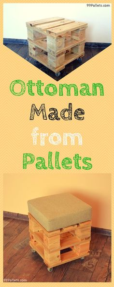 Ottoman Made from Pallets - 99 Pallets