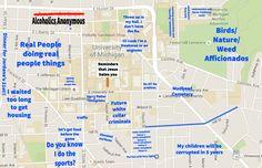 University of Michigan: http://theblacksheeponline.com/michigan/a-judgmental-map-of-ann-arbor