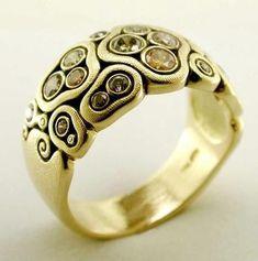 Natural Diamond ring designed by Alex Sepkus
