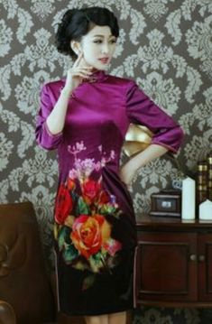 a78da8d7fe Style  short qipao sleeve style  short Collar shape  stand Fabric  cotton  Size  S M L XL XXL Characteristics Elegant Design  hand-painted Purchasing  from ...