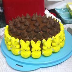 Peeps cake!