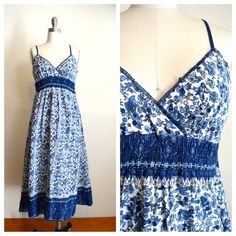 hippie INDIA cotton sundress by DaisyBrowneVintage on Etsy