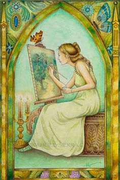 La artista - de la crisálida Tarot Troupe de personajes medievales
