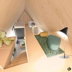 Návrh interiéru detskej izby - Interiér pasívneho domu, Dubová pri Modre - Interiérový dizajn / Children´s room interior by Archilab