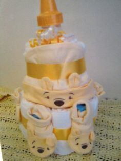 Winnie the Pooh Outfit Diaper Cake
