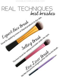 Real Techniques Best Brushes | The brushes you should check out. #youresopretty