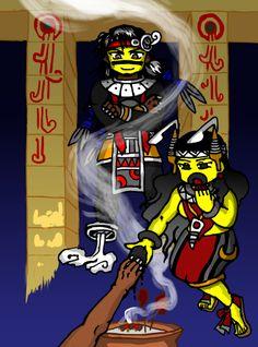 Tezcatlipoca by nosuku-k on DeviantArt Aztec Emperor, Aztec Warrior, I Really Love You, Deviantart, Japanese Language, Character Description, Funny Art, Drawing Tools, User Profile