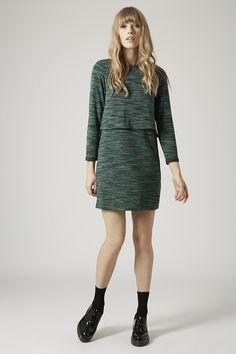 Space Dye Print Overlay Dress - Topshop