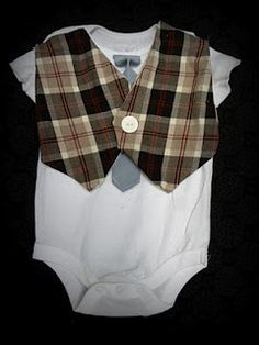Crafting Made Simple: DIY baby onesie vest. My baby cousin Alex needs this immediately