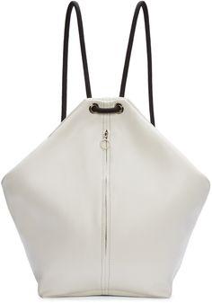 MM6 Maison Margiela White & Black Leather Rope Backpack