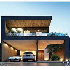 inspiring modern house design ideas 2019 14 – Willkommen in meiner Welt Bungalow House Design, House Front Design, Modern House Design, Contemporary Design, Modern Exterior, Exterior Design, Beautiful Modern Homes, Dream House Exterior, House Elevation
