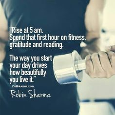 Inspiration from Robin Sharma. My ultimate goal is to join 'The Club' and start my day with determination, positive attitude and focus. Fitness Motivation Quotes, Weight Loss Motivation, Exercise Motivation, Motivation Inspiration, Fitness Inspiration, 5am Club, Motivational Quotes, Inspirational Quotes, Robin Sharma