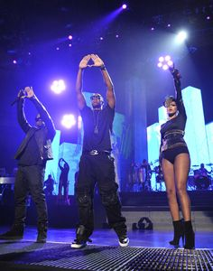Rihanna, Jay-Z, and Kanye West