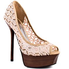 Bebe Shoes Chantal - Natural Fabric ($110) ❤ liked on Polyvore