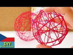 Dekorace - koule z vlny - letní dekorace z vláken, balonek - DIY - YouTube Make Your Own, Make It Yourself, How To Make, Decorate Your Room, String Art, Decorative Bowls, Christmas Bulbs, Diys, Balloons