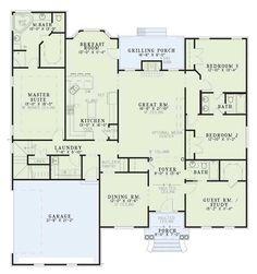 Flip garage and bedrooms  bedrooms in front  garage in back    Floor plan