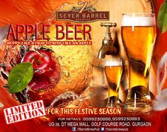 Guests at 7 Barrel Brew Pub will have a glass of very special, rare and limited edition of freshly brewed Apple Beer for a midnight toast. Specially brewed for New year Eve and this festive season, Apple Beer has already become a reason for many guests to come back repeatedly this week for more and more. Don't miss your chance to relish this amazing taste this season... ‪#‎applebeer‬ ‪#‎newyeareve‬ ‪#‎newyearparty‬ ‪#‎microbreweriesingurgaon‬