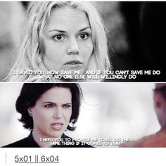 "Emma and Regina trusting each other to do the difficult thing - Swan Queen parallels from 5.1 ""The Dark Swan"" and 6.4 'Strange Case"""