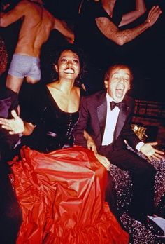 New Year's Eve party at Studio 54 1978-1979///Diana Ross with Steve Rubell