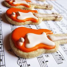 Electric Guitar Cookies by thePieceDeResistance on Etsy, $30.00
