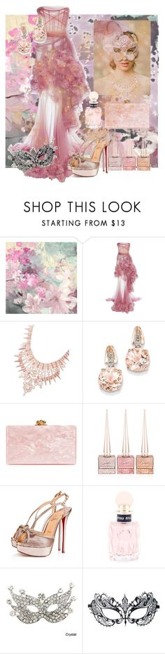 """""""Pretty as a Picture"""" by pretty8happy ❤ liked on Polyvore featuring Marchesa, Kendra Scott, BillyTheTree, Edie Parker, Christian Louboutin, Miu Miu and Masquerade"""