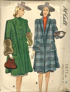 McCall Late 1930s Pattern Illustration