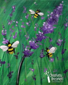 Lavendar Bees| Creatively Uncorked | http://creativelyuncorked.com