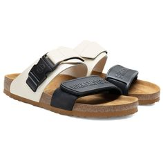 BIRKENSTOCK Rotterdam Rick Owens Black Milk in all sizes ✓ Buy directly from the manufacturer online ✓ All fashion trends from Birkenstock Two Strap Sandals, Women's Shoes Sandals, Leather Sandals, Mens Flip Flops, Hype Shoes, Black Milk, Dream Shoes, Men S Shoes, Rick Owens