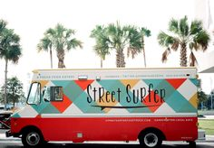 Street Surfer Food Truck Wrap. With a name like this, don't we expect the menu to be fun!? PopUpRepublic.com