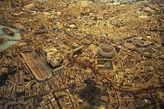 Ancient+city+of+Rome+320ADLarger+view+of+the+model+of+Ancient+Rome+created+under+Mussolini,+now+in+the+Museum+of+Roman+Civilization+at+EUR.+The+view+is+looking+north,+with+the+bend+of+the+Tiber+River+and+Tiber+Isl.jpeg (750×500)