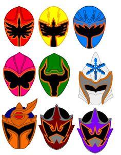 Power Ranger Mystic Force Helmets by PowerRangersWorld999