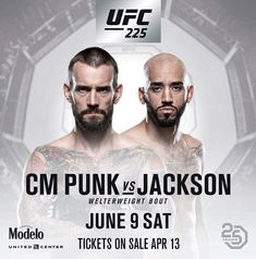 CM Punk to make Octagon return against Mike Jackson at UFC 225 -  CM Punk will fight Mike Jackson at UFC 225 in Chicago on June 9  The WWE legend has fought once since switching wrestling for MMA  He was easily beaten by Mickey Gall in 2016 and has not fought since  By Spencer Morgan For Mailonline  Published: 18:24 EDT 12 April 2018 | Updated: 18:24 EDT 12 April 2018  Former WWE star CM Punk will fight in the UFC for a second time in the summer.  The 39-year-old real name Phil Brooks…