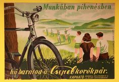 Retro Ads, Vintage Ads, Vintage Travel Posters, Retro Posters, Bike Poster, Travel Ads, Bicycle Art, Illustrations And Posters, Images