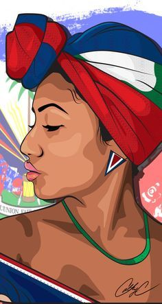 I'm throwing back to this illustration to scream Happy Haitian Flag Day! To my people,sing, dance, and be merry. Black Girl Art, Black Women Art, Art Girl, Haitian Flag, Haitian Art, African Art Paintings, Black Art Pictures, Caribbean Art, Art Africain