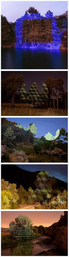 Outdoor Light Projections by Javier Riera