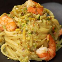 """This is """"Linguine al limone con gamberi e pistacchi"""" by Al.ta Cucina on Vimeo, the home for high quality videos and the people who love them. Easy Healthy Recipes, Gourmet Recipes, Easy Meals, Chicken Skillet Recipes, Pasta Recipes, Italian Dishes, Italian Recipes, Linguine, Indian Food Recipes"""