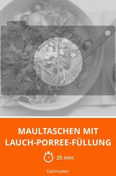 Maultaschen mit Lauch-Porree-Füllung - smarter - Zeit: 25 Min.   eatsmarter.de