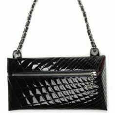 """Chanel Pre-Fall 2008 """"Door Stop"""" Patent Calfskin bag"""
