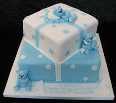 New baby boy baptism cake teddy bears Ideas Baby Christening Cakes, Baby Boy Baptism, Baby Boy Cakes, Baptism Cakes, Cake For Baptism Boy, Gateau Baby Shower, Baby Shower Cakes, Baby Boy Shower, Teddy Bear Cakes