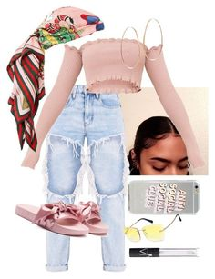 """Outfit"" by angiebe1 on Polyvore featuring Lana Jewelry, Gucci, Puma and NARS Cosmetics"