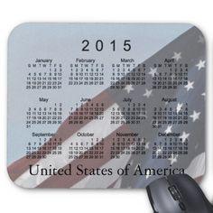 2015 USA Flag Calendar by Janz Mousepads