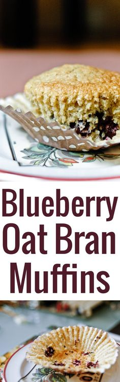 An unfussy recipe for delicious homemade blueberry oat bran muffins, not overly sweet, and a fine nutritional option for breakfast or a snack.