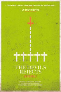 """Un jour, une affiche de cinema de genre dessinée par Belle Lurette. Aujourd'hui : le diabolique """"The Devil's Rejects""""."""