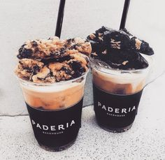 Pinterest | Desserts: Coffee, Fudge and Ice Cream-sweets, milk, cream, chocolate, dessert, advertising
